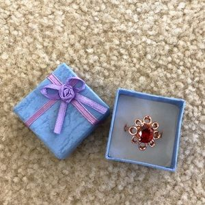Size 8 rose gold ring with gift box Mother's Day